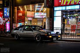 japanese street race cars midnight roulette toyota ae86 levin u0026 trueno image blog