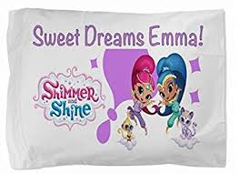 Personalized Girls Bedding by Amazon Com Shimmer And Shine Personalized Pillowcase Kids Childs