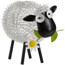 dolly sheep led solar silhouette metal garden ornament at homebase