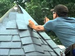 rubber slate can be a choice when re roofing a home