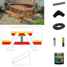 Diy Picnic Table Plans Free by 13 Diy Cooler Table Plans To Build For Outdoor Beer Drinks Or