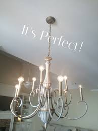 Painted Chandelier Pretending To Chalk Paint A Chandelier The Birchwood