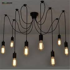Edison Pendant Lights Spider Pendant L Classic Decorative Loft Lights American