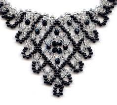 crystal necklace patterns images Opulent crystal 39 v 39 necklace rypan designs downloadable patterns jpg