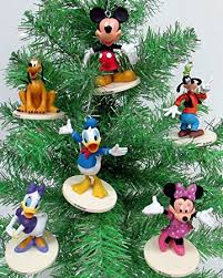 disney mickey mouse 6 ornament set featuring