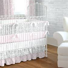 Gray And Pink Crib Bedding Pink Crib Quilt Pink And Gray Filigree Crib Bedding Pink