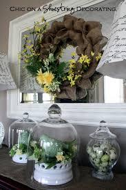 Spring Wreath Ideas Chic On A Shoestring Decorating Cheap Diy Spring Wreath Tutorial