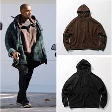 kanye west fashion mens drop shoulder big hood hoodies brand yeezy