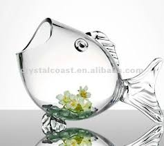 Goldfish Bowl Vase Wholesale Home Decor Table Top Decorative Clear Glass Fish Bowl