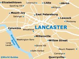 map of lancaster pa lancaster maps and orientation lancaster pennsylvania pa usa
