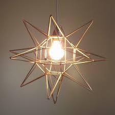 Geometric Pendant Light by Pretty Little Lady Design Geometric Moravian Star Light Tutorial