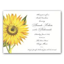 bridesmaids luncheon invitation wording sunflower bridesmaids luncheon invitations paperstyle