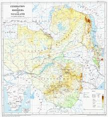 Colonial Africa Map by Nyasaland Colony