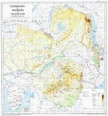 Colonial Map Nyasaland Colony