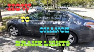 2005 altima tail lights how to change brake lights on a 2008 nissan altima youtube