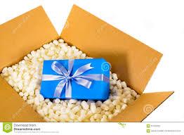 boite emballage cadeau en carton cadeau bleu de boîte de la livraison d u0027expédition de carton