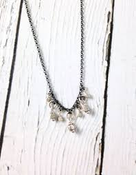 sterling silver ring necklace images Handmade sterling silver necklace with oxidized chain shiny rings jpg