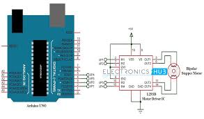 stepper motor control using arduino circuit code working