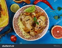 cuisine du maghreb maghreb cuisine traditional moroccan apricot chicken stock photo