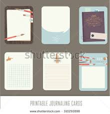 journaling cards notes stickers labels tags stock vector 310293098