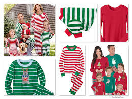green striped family pajamas like those featured