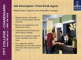 front desk agent duties itft front office introduction