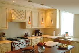 terrific small kitchen design with big ceiling lighting and fan