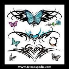 purple flowers lower back tattoos the