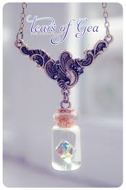 bottle necklace pendant images Swarovski diamond bottle necklace vial necklace mini glass jpg
