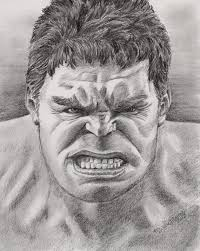 items similar to the avengers incredible hulk print from graphite
