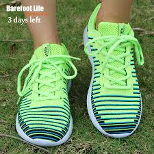 Soft And Comfortable Shoes New Green Color Athletic Sport Running Shoes Woman And Man