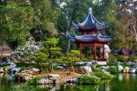 japanese garden pond san marino gazebo trees park mm522 living