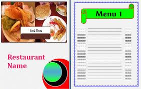 blank menu templates free sle menu template