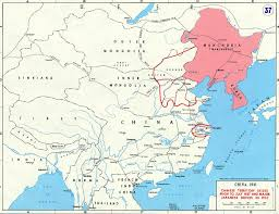 china on a map map of china 1937