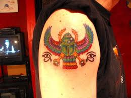 egyptian scarab tattoo designs egyptian winged scarab tattoo by