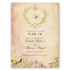 vintage save the date vintage birds save the date card invitations by