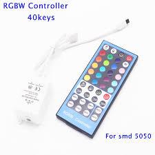 led strip lights remote rgbw controller 40 keys ir remote dc12 24v input for smd 5050 rgbw