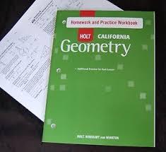 holt geometry student homework u0026 practice workbook w answer key
