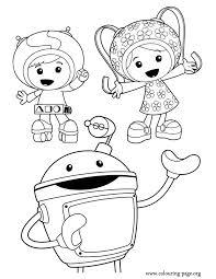 team umizoomi geo milli bot coloring