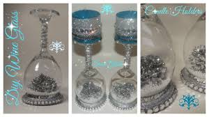 wine glass snow globes diy wine glass snow globe candle holder dollar tree