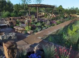 Drought Tolerant Backyard Ideas Santa Fe Botanical Garden Master Plan U0026 Garden Design W Gary