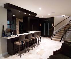 livingroom bar lower level bar contemporary living room detroit by