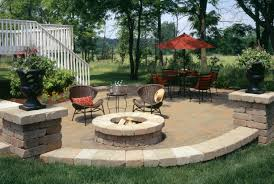 Patio And Firepit Garden Design With Pit And Outdoor Fireplace Patio Designs