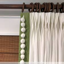 tips to choosing beautiful pinch pleat curtains ikea ritva curtains customized with contrast edge band pompom