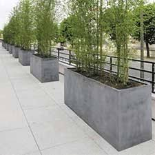 large concrete planter large scale planters used as wall barrier these would be great