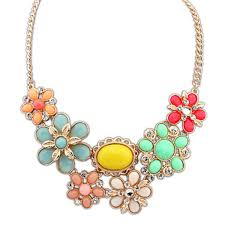 crystal collar statement necklace images Chunky flower statement necklace images jpg