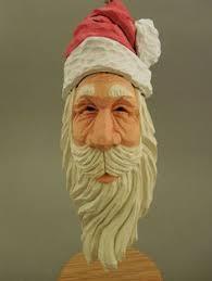 carved wood santa ornament 38 00 via etsy wood carving