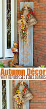 autumn décor with repurposed fence boards fence boards