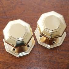 mortice glass door knobs brass octagonal mortice door knobs the period ironmongerthe