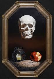 Memento Mori - memento mori skull painting kevin grass fine art